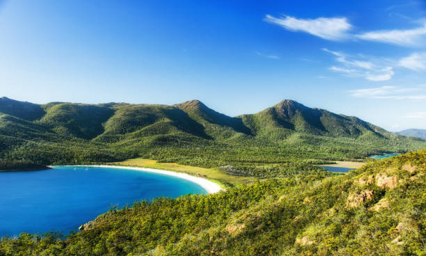 wineglass bay - tasmania stock pictures, royalty-free photos & images