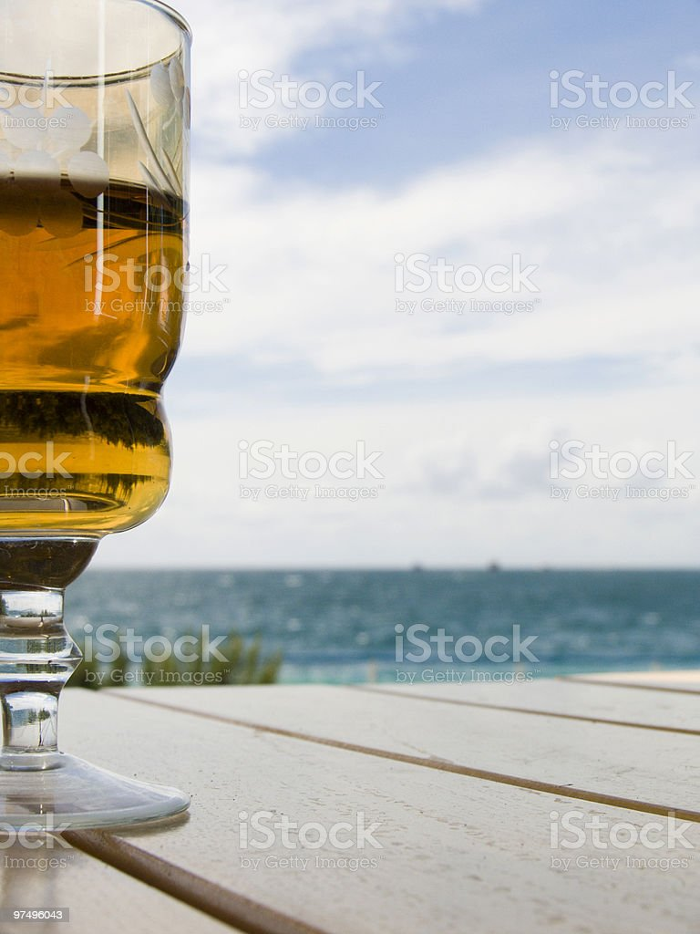 Wine-glass with a wine royalty-free stock photo