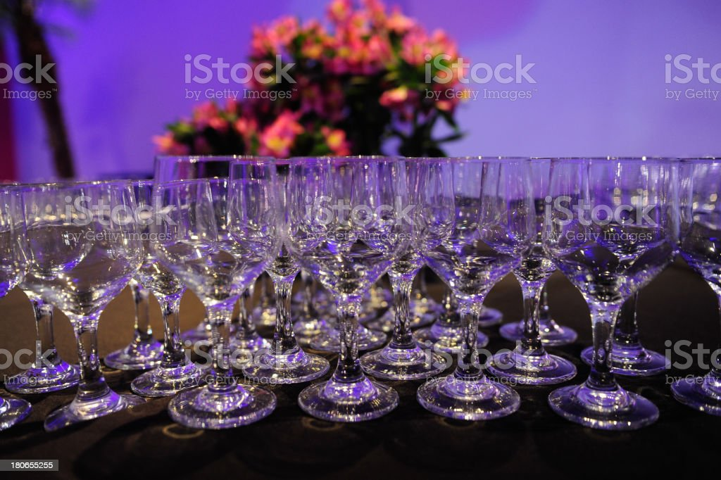 Wineglasses On Event royalty-free stock photo