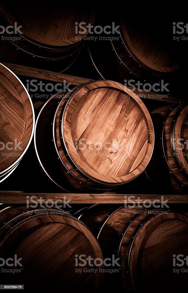 winemaking barrel 3d illustration – Foto