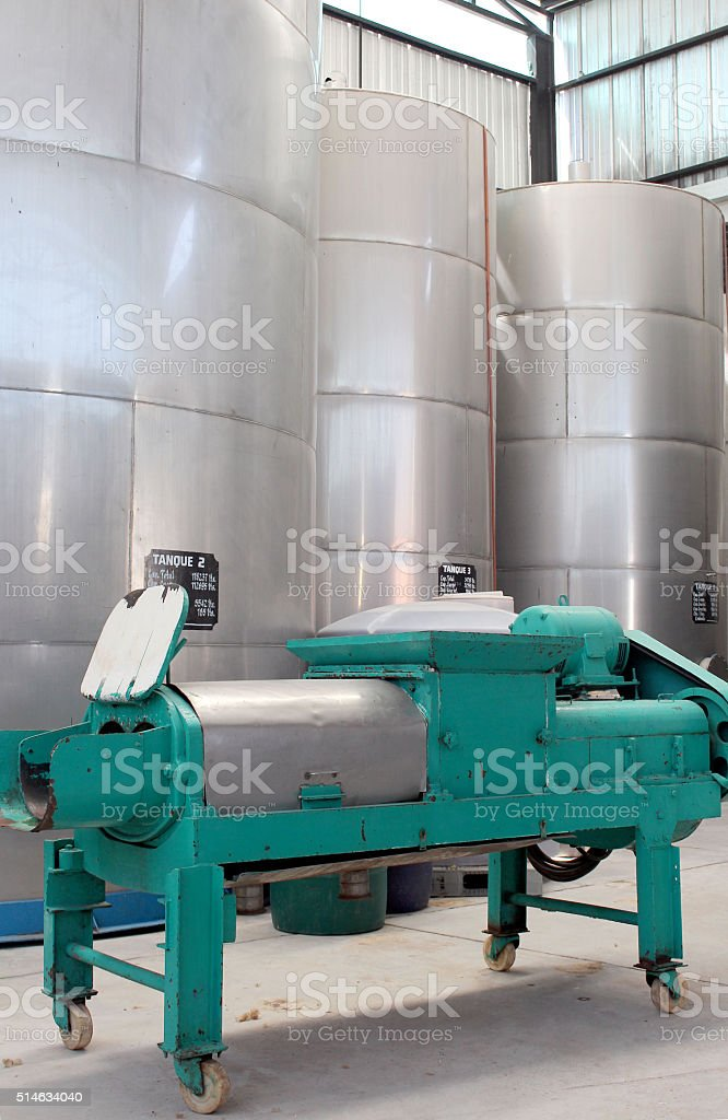 Winemaking by carbonic maceration stock photo