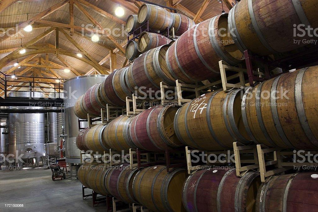 Winery Interior royalty-free stock photo