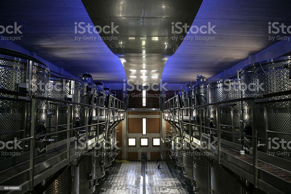 Winery interior royaltyfri bildbanksbilder
