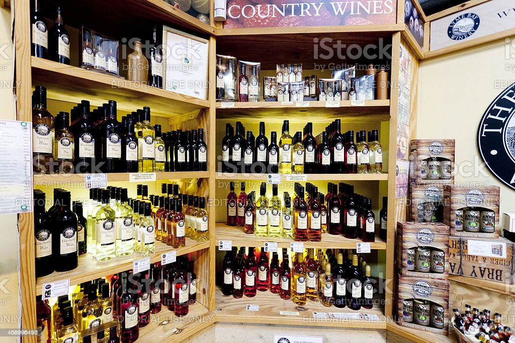 Winery store product display royalty-free stock photo