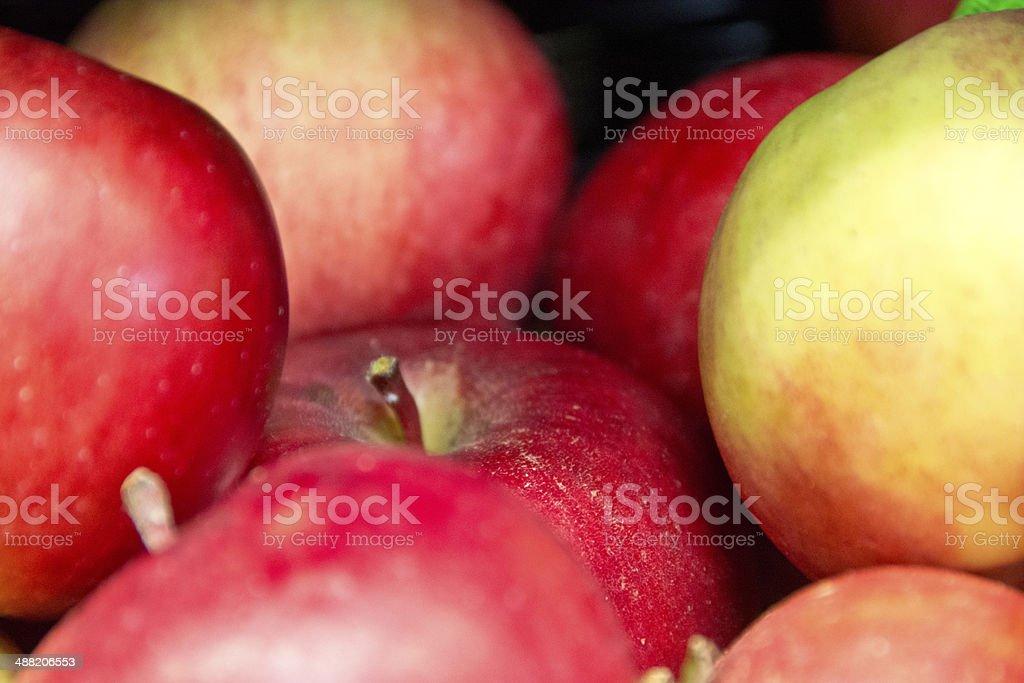 Winesap apples close up stock photo