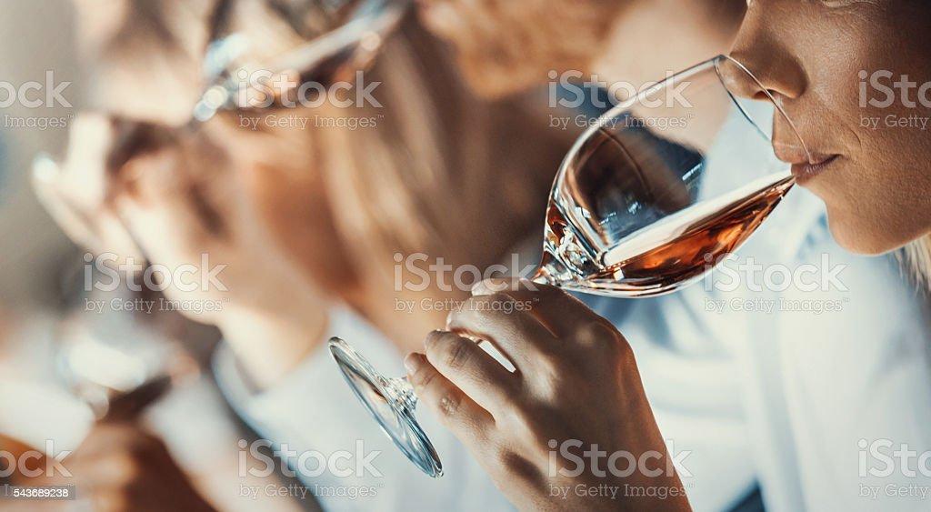 Degustazione di vino evento. - foto stock