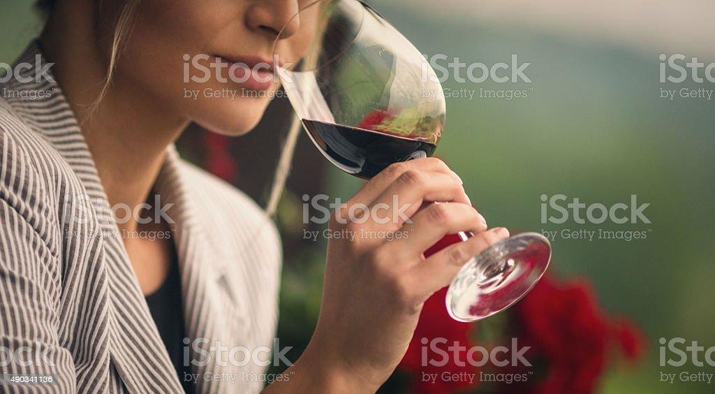 Degustação de vinhos. - foto de acervo