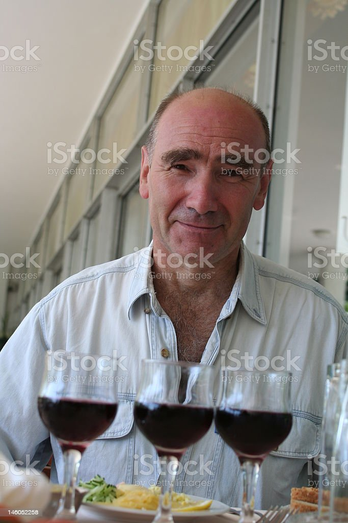 wine-testing by men royalty-free stock photo