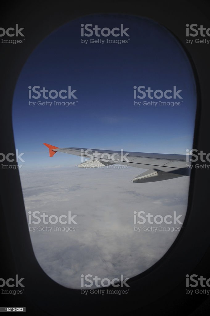 wing aircraft-Flight travel royalty-free stock photo