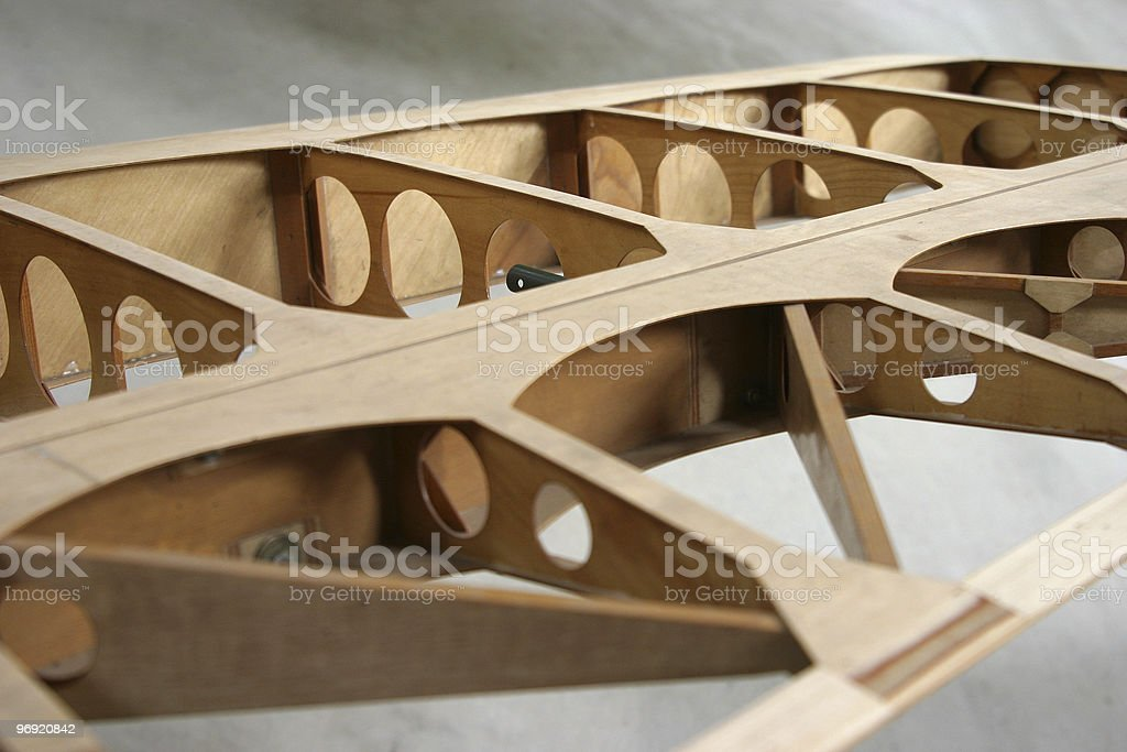 Wing Construction Detail royalty-free stock photo