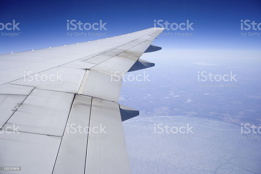 Wing from air royalty-free stock photo
