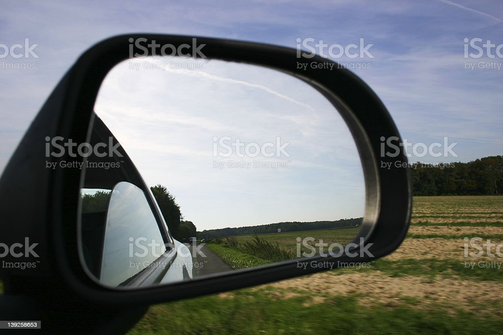 Wing mirror royalty-free stock photo