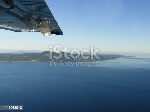 Aircraft flight  concept travel background