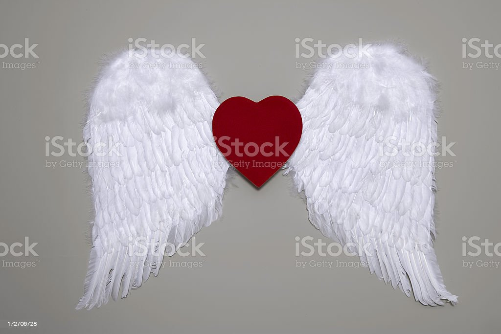 Winged Flying Heart royalty-free stock photo
