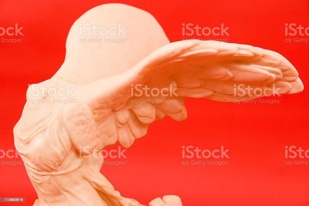 Winged Nike royalty-free stock photo