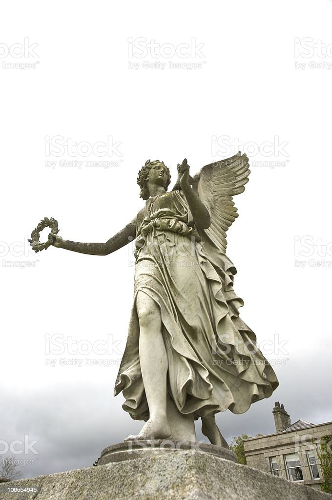 winged woman sculpture royalty-free stock photo