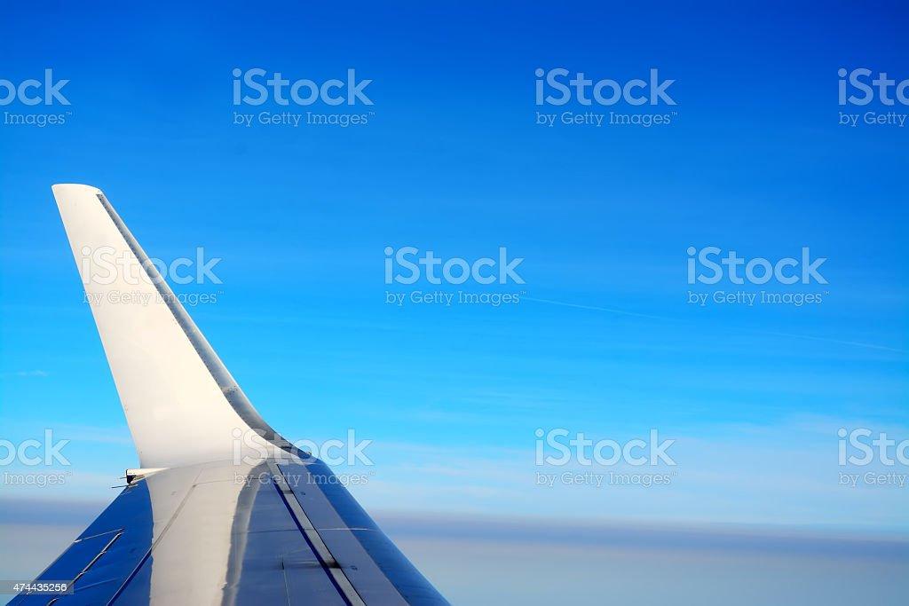winglet in the blue sky stock photo