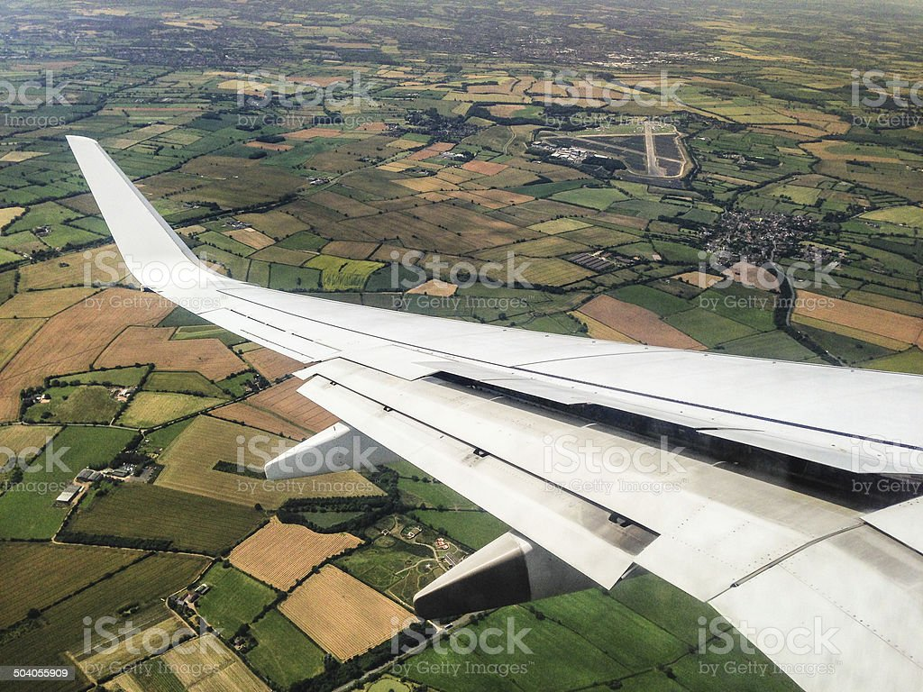 winglet of a commercial airplane stock photo