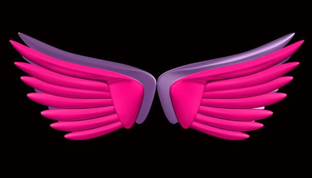 wings 3d renderings - vogel phönix tattoos stock-fotos und bilder