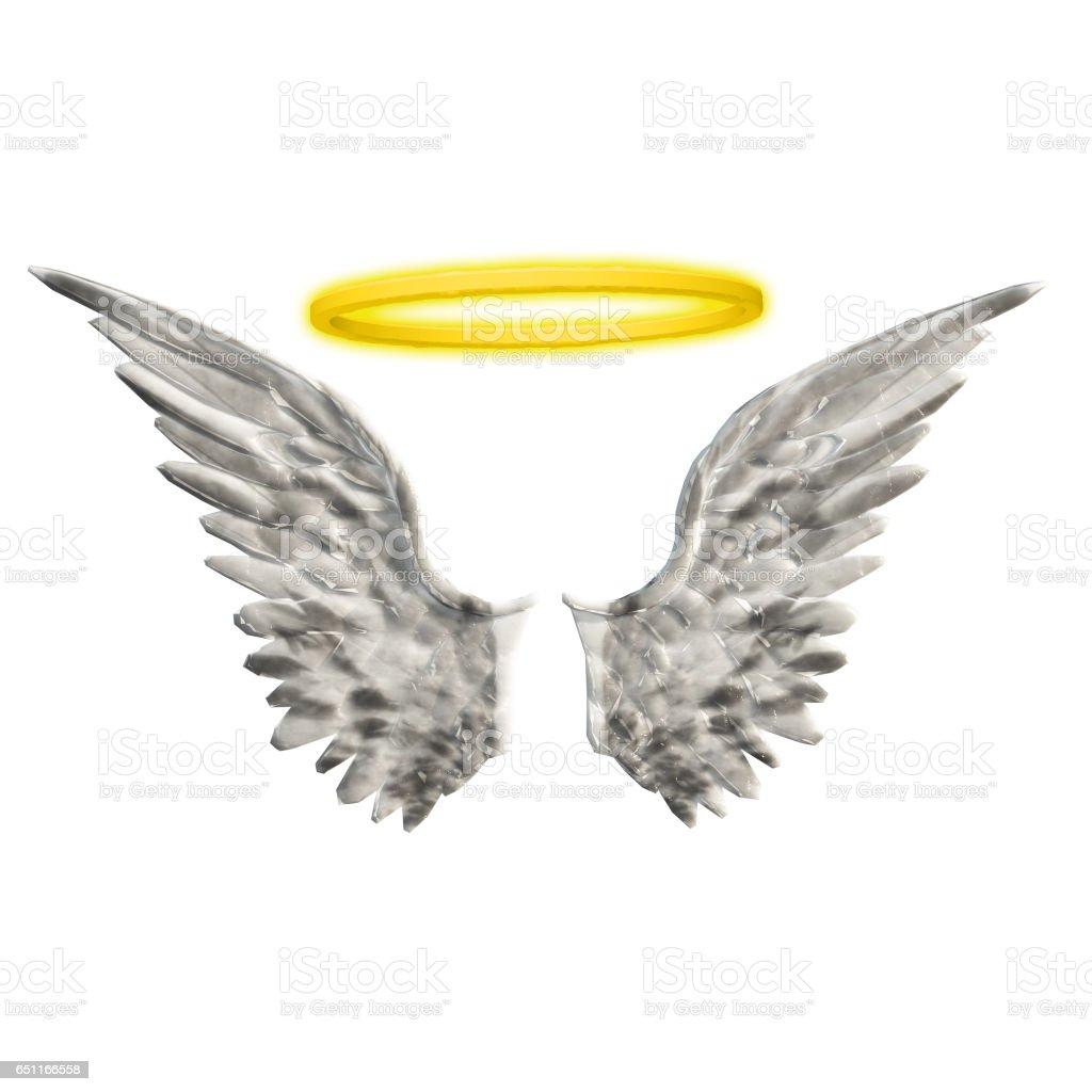Wings Halo stock photo