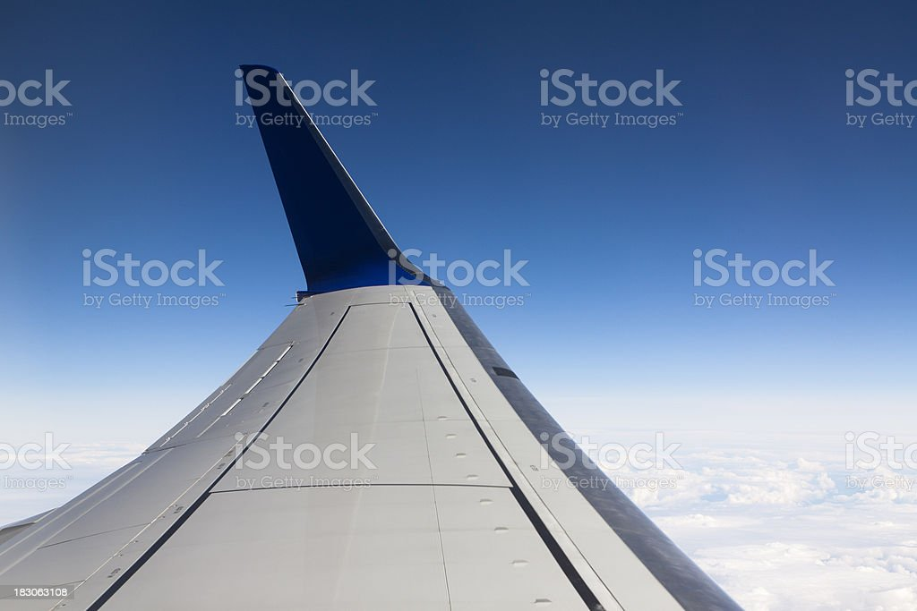 Wingtip device of a modern business jet. royalty-free stock photo