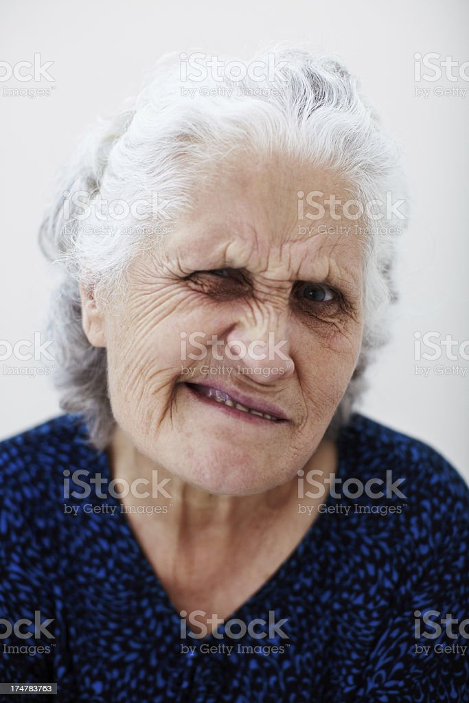 Winking stock photo
