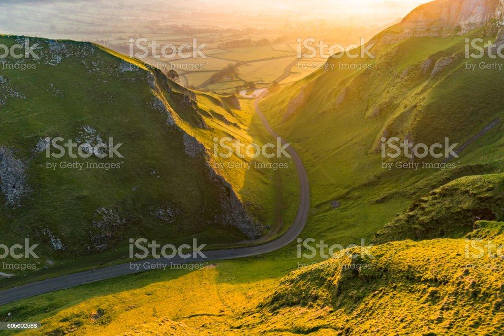 Winnats Pass In The Peak District. stock photo