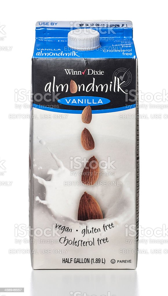 Winn-Dixie Almondmilk Vanilla tetrapak or carton container stock photo