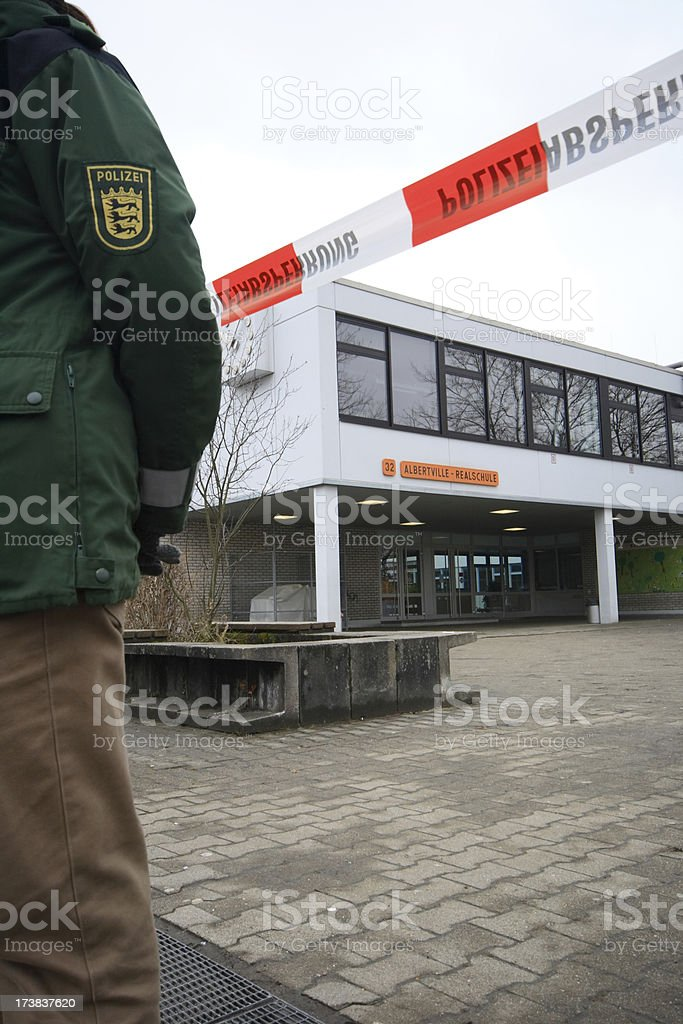 Winnenden Albertville Realschule - German school rampage 1 stock photo