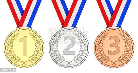 istock Winner championship 1, 2, 3 926143156