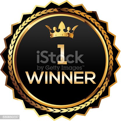 istock Winner first place gold badge 530650237