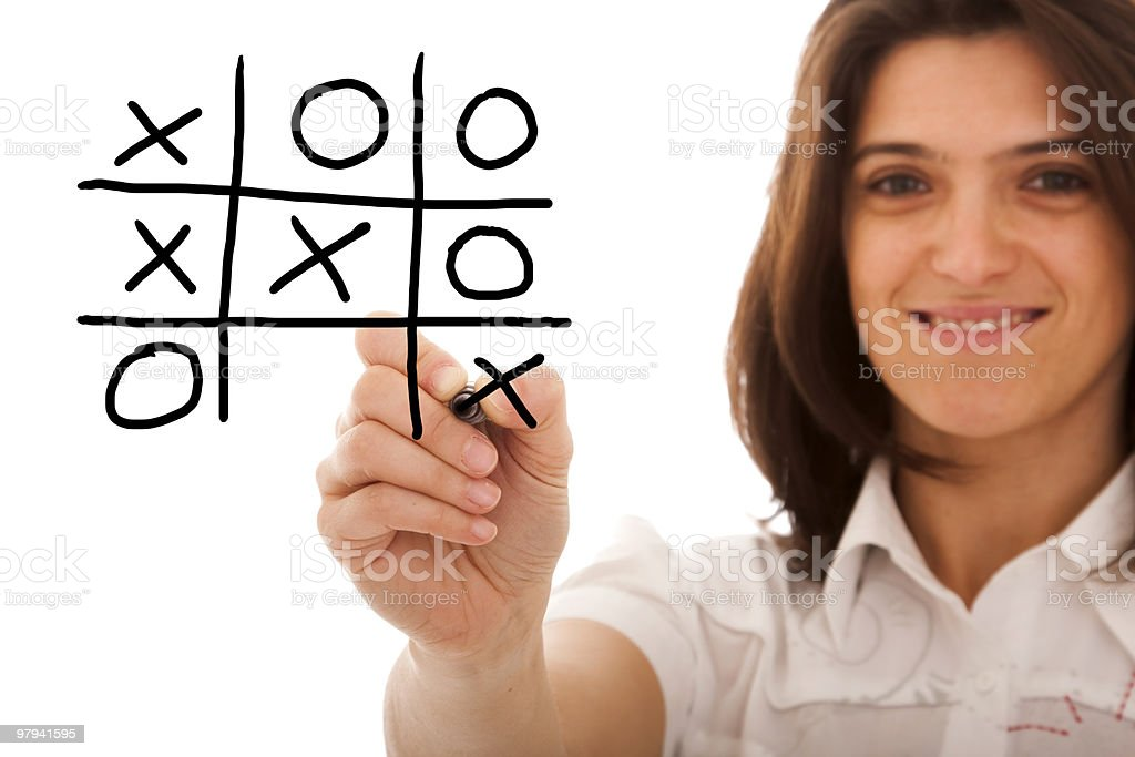 Winner of the game royalty-free stock photo