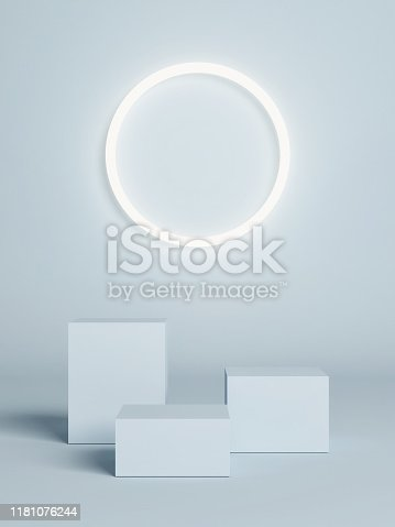 1079254746istockphoto Winner pedestal, mock up concept on blue background 1181076244