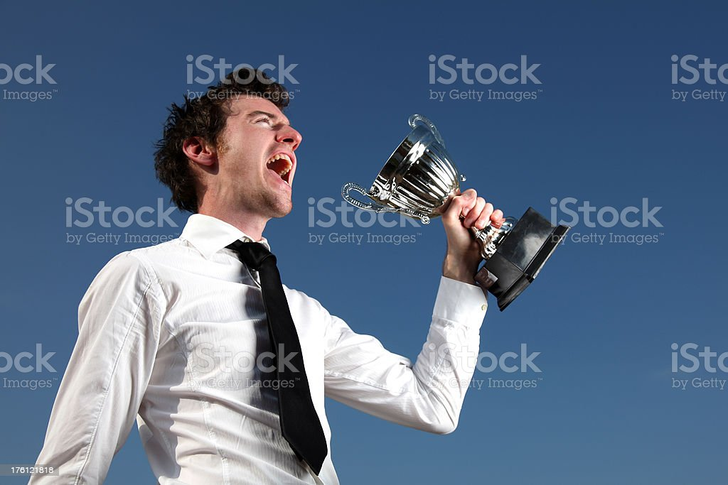 Winner winning businessman 20-29 Years Stock Photo