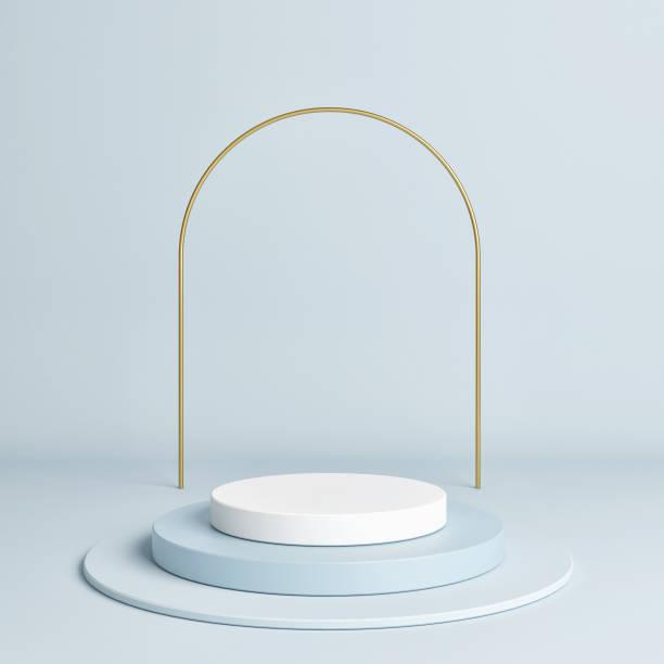 Sieger Podium geometrische Form blaue Farbe – Foto