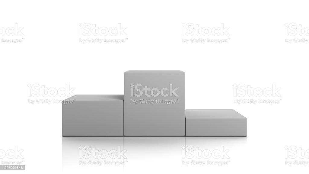 winner podium stock photo