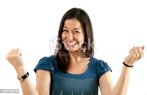 istock winner - smiling woman in pose 184118729