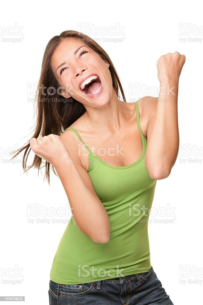 Winner success woman stock photo