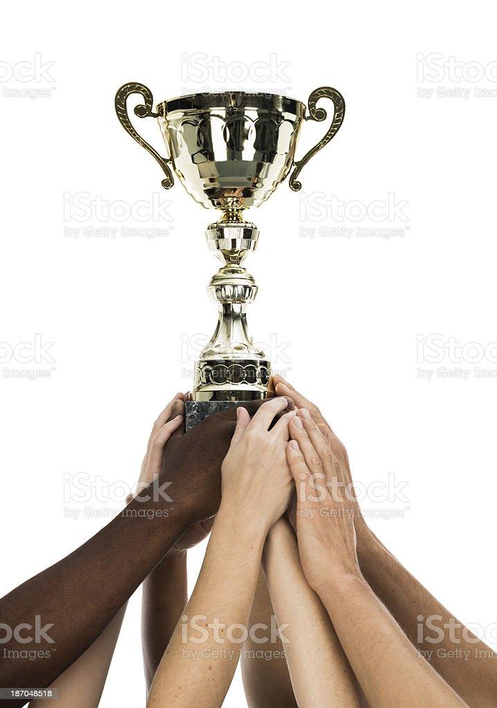 Winner team royalty-free stock photo