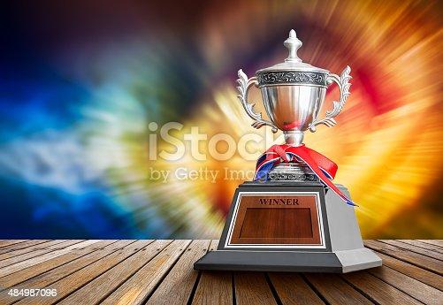 istock Winner trophy 484987096