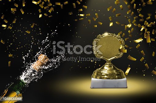 1051699126 istock photo winners cup on stage 1045530068