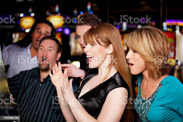 Winners friends excited about hitting a jackpot in the casino picture id155386292?b=1&k=6&m=155386292&s=612x612&h=luq fgejds q tvhi3lc6kx0smqtwyootufzdlkmv4a=