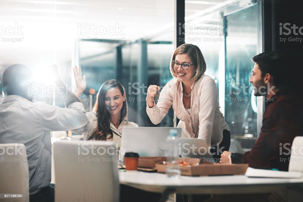 Winners know what they have to do and do it stock photo