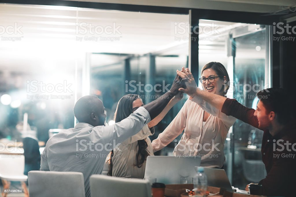 Winners make it happen - foto stock