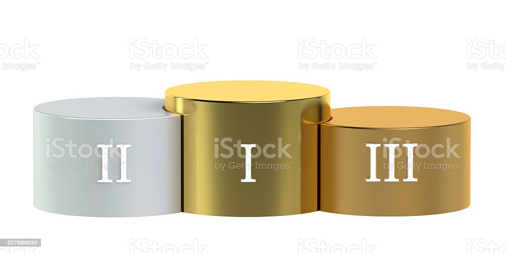 Winners Podium 3D rendering stock photo