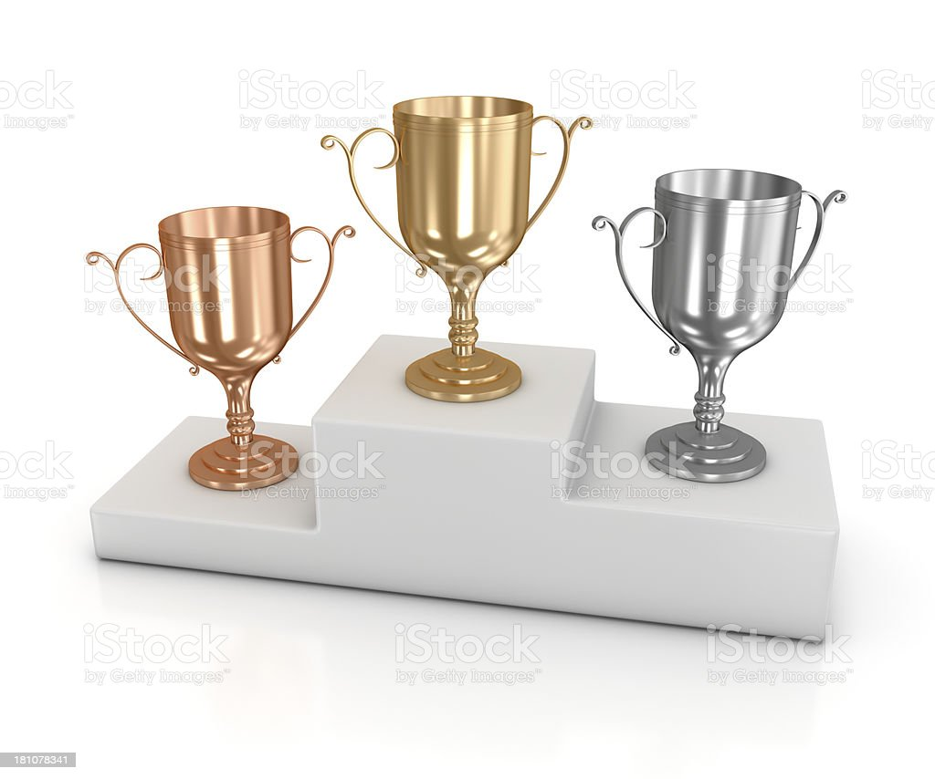 Winners podium royalty-free stock photo