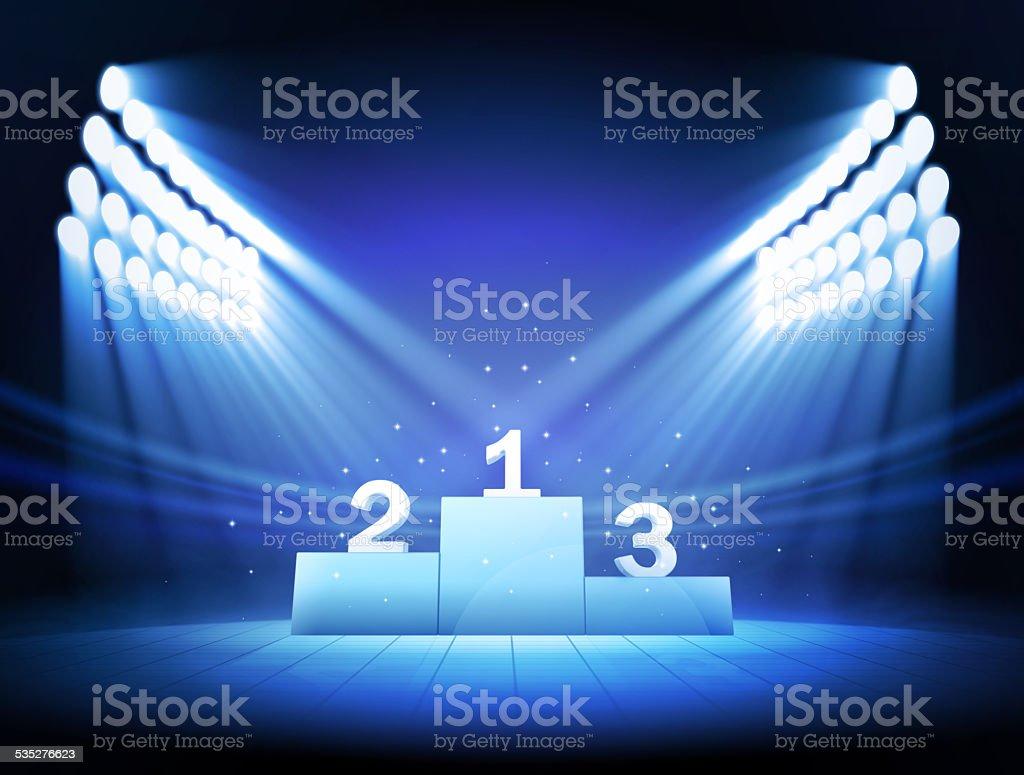 Winners Podium stock photo