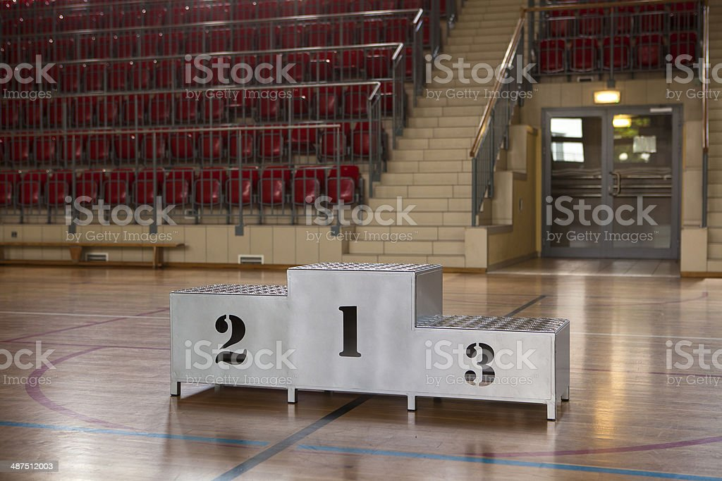 Winners podium with numerals royalty-free stock photo