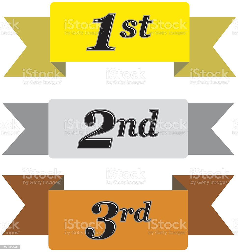 Winners Ribbons royalty-free stock photo
