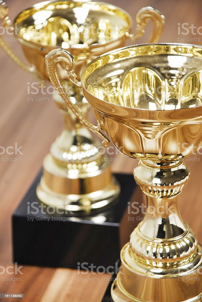 Winners Trophies royalty-free stock photo